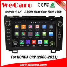 """Wecaro android 4.4.4 car gps navigation China Factory 8"""" for honda crv android 4.4.4 mirror link 2006 - 2011"""