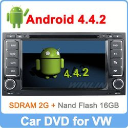 Ownice Pure Android 4.4.2 Quad Core 1.6GHz volkswagen touareg car audio system 16GB Flash HD 1024*600