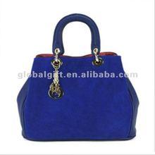 Blue pu cheap handbags in china