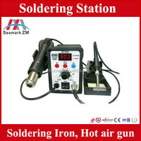 Original AT8586 2 in1 hot air soldering iron station,SMD rework station