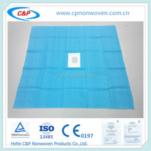 Hospital/clinic used surgical disposable Hole drape with CE/ISO