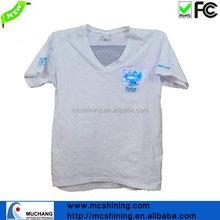 2015 men short sleeves v t-shirt with led logo