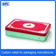 Gift stationary set tin box with contact lens tin box/pencil case