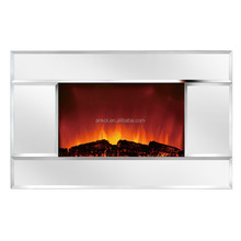 One color Wall Mounted Mirror panel electrical fireplace