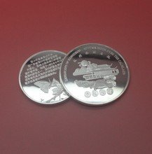 Shenzhen commemorative coin in high quality silver plated