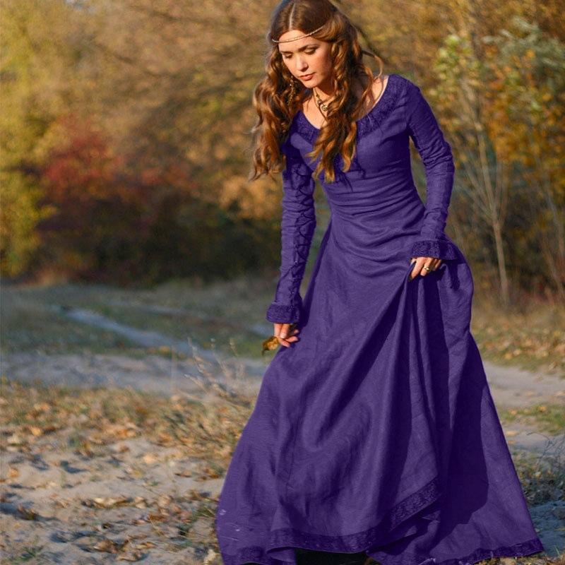 Ysmarket clásica Edad Media estilo mujeres vestido largo europa ...