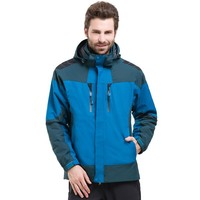 Top Quality Detachable fleece inner liner 2pcs mens windproof waterproof jacket