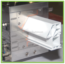 Plastic extrusion mold die for PVC profiles