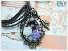 Antique mental resin pendant necklace for craft making DIY