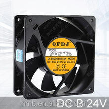 12038 dc 24volt China supplier industrial cooler fan for financial equipment
