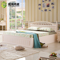 Pinkish and Ivory White Panel Bedroom Set