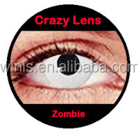 White out Zombie Naruto crazy contact lens for Halloween season