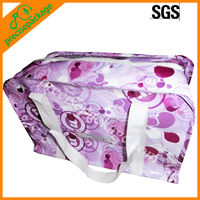Hot laminated pp woven shopping tote bag with zipper(PRA-8137)