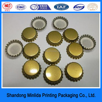 best quality customized logo beer bottle crown cap for beverage packaging & printing