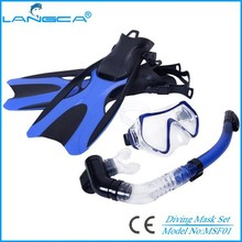 Adult silicone swimming snorkel set