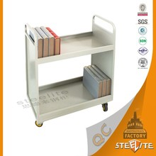 Portable Modern Library Equipment Library Mobile Book Vehicles/Book Cart