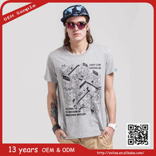 china suppliers t-shirt Made in china hip hop men's fancy organic cotton tee t+shirt