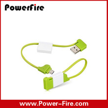 2015 New Portable Mini Keychain USB Cable Micro USB Charging Sync Cable for iphone