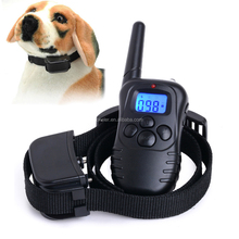 300 Yard 100 Levels Electronic Shock Vibra Remote Rechargeable LCD Pet Dog Training Collar