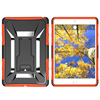 For iPad mini 4 plastic covers with back stand X line design