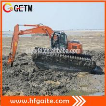 Engineering equipment for construction amphibious excavator