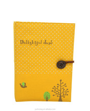 2015 new products linen material button stretchable book cover