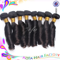spring curly machine weft virgin Indian Natural hair products 100% wholesale spring curl human hair curly weave