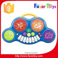 2015 electric piano musical instrument, kid toy with drum and piano.