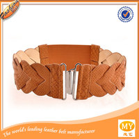 Popular fashion holes colored leather belts