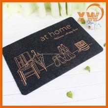 House plans new design fashion dress print logo very thin floor mat