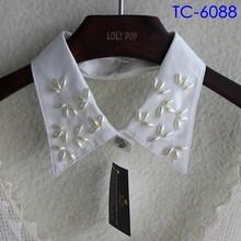 2015 fashion nail beads fake shirt collar for garment design
