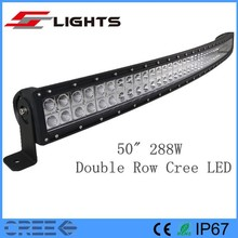 "50 "" 288W Curved arch bent 4wd LED driving light"