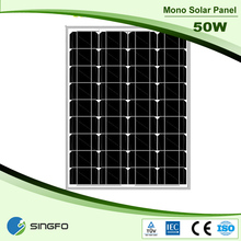 Chinese Photovoltaic 50W Amorphous Silicon Module Solar Panels