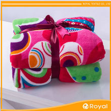 Excellent material polyester colorful large blankets