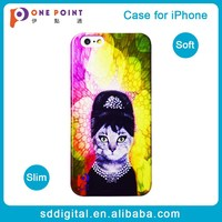 Beautiful fashion women cat tpu mobile phone case cover for iphone