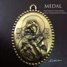 Jésus médailles / vierges médailles / Antique 3 dimension médaille