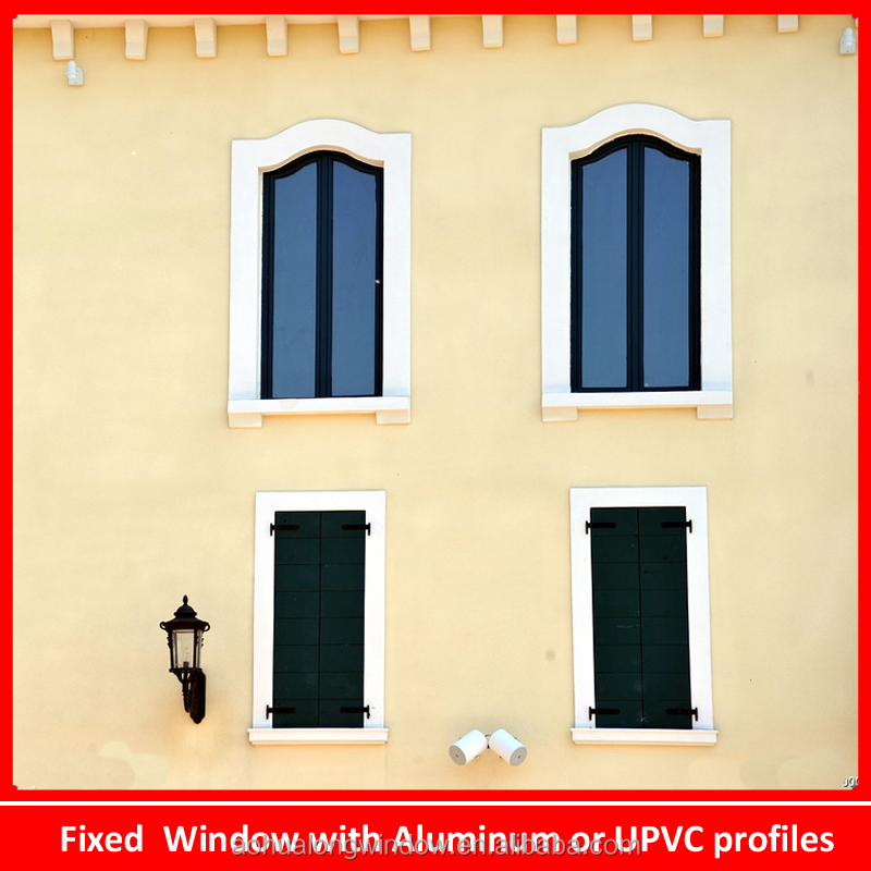 Steel Fixed Windows : Steel liner upvc fixed window good quality