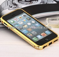 Luxury Bling Diamond Metal Bumper Frame Case Cover For iPhone 5 5G 5S Bumper Case