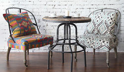 2015 modern comfortable style dining room chair seat covers with hand carved cane back