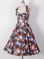 50's Swing Retro Printed Vintage Dress