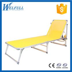 Folding Aluminum Outdoor Sun Lounger, Canopy Bed Outdoor
