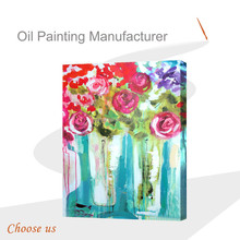 Colorful Flower Round Stretched Canvas Painting,Primed Pure Cotton Stretched Canvas, Painting or Printing Canvas