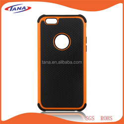 PC TPU Silicon Full Protective Dual Layer mobile phone case For Iphone 6