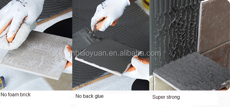 Exterior floor tile adhesive