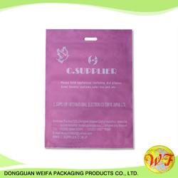 Customized Soft Material Die Cut Folding/Plastic Die Cut Shopping Bag