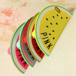 alibaba express hot sell phone case red fruit watermelon silicone mobile phone covers /case for 2015 christmas gift