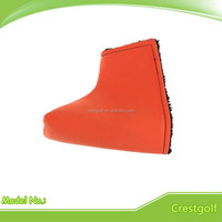 Factory red custom PU leather golf putter headcover