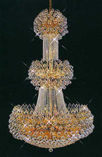 SPLENDOR BRAND Ballroom Entryway Crystal Chandelier with Faceted Crystal Balls