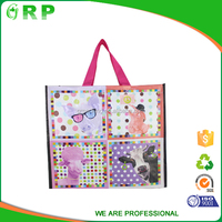 Eco-friendly promotional pp woven cheapcollapsible shopping bag
