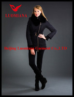 Shiny brand new design high quality 2014 hot sale winter coat fashion brand sex animal women coat